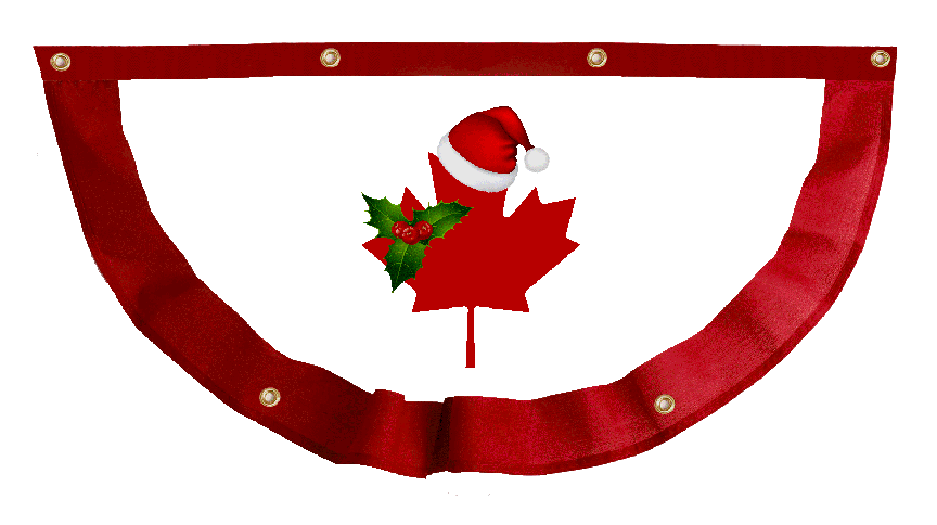 Christmas in Canada Bunting 2s