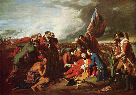 Death of Major General James Wolfe on the Plains of Abraham, 1759