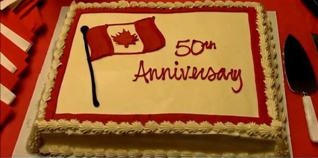 Flag 50th Anniversary - Cake