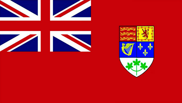 The Canadian Red Ensign used until 1964